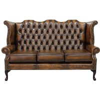 Tan Chesterfield 3 Seater High Chair | Buy online today | DesignerSofas4U - DESIGNER SOFAS 4 U