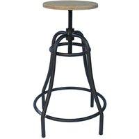 Netfurniture - Tarapo Industrial Adjustable Bar Stool - Beige
