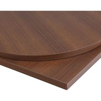 Netfurniture - Taybon Round Solid Wood Table Top Brown Walnut Solid Wood 800 x 800 mm 26 mm Round