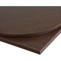 Taybon Round Solid Wood Table Top Brown Wenge Solid Wood 1200 mm 26 mm Round