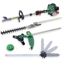 TCK 4 in 1 Petrol Multi-Tool - Strimmer, Brushcutter, Hedge Trimmer and Pole Saw DCBT4F - TCK GARDEN