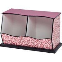 Teamson Kids Children Pink Wooden Storage Drawers Toy Box Storage TD-12473P