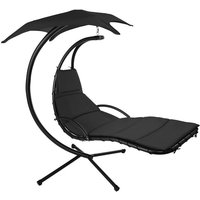 Hanging chair Kasia - garden swing seat, garden swing chair, swing chair - black - TECTAKE