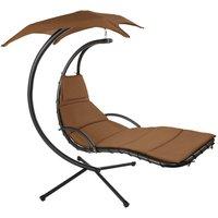 Hanging chair Kasia - garden swing seat, garden swing chair, swing chair - brown - TECTAKE