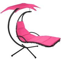 Tectake - Hanging chair Kasia - garden swing seat, garden swing chair, swing chair - pink