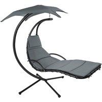 Hanging chair Kasia - garden swing seat, garden swing chair, swing chair - grey - TECTAKE