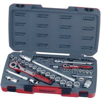 Teng Tool T1272 72 Piece 1/4In and 1/2In Drive Socket Set