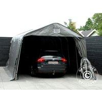 Tente Abri Voiture Garage PRO 3,6x6x2,68m PE, Gris - DANCOVER