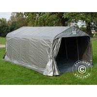 Tente abri Voiture garage PRO 3,6x6x2,7m PE avec couvre-sol, Gris - DANCOVER