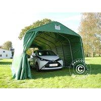 Tente Abri Voiture Garage PRO 3,6x7,2x2,68m PVC, Vert - DANCOVER