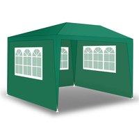 Tente de fête de pavillon Tente de jardin Pavillon de jardin Murs latéraux Grün / 300x300x240cm mit 3 Wänden