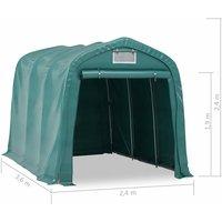 Tente de garage PVC 2,4x3,6 m Vert - ASUPERMALL