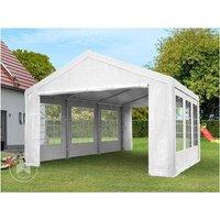 Intent24.fr - Tente de réception 3x3 m pavillon blanc bâche PE épaisse d'env.180g/m² imperméable tente de jardin