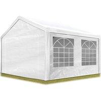 Intent24.fr - Tente de réception 3x4 m pavillon blanc bâche PE épaisse d'env.180g/m² imperméable tente de jardin