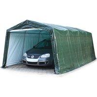 3,3 x 6,2 m garage, abri de stockage, PE env. 260 g/m², tente garage vert foncé