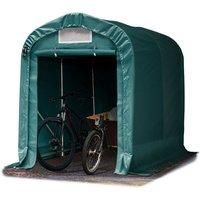 Tente-garage carport 1,6 x 2,4m d'élevage abri agricole tente de stockage bâche env. 550g/m² armature solide vert fonce
