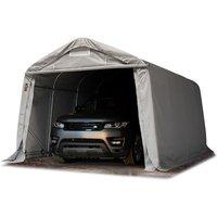 Tente-garage carport 3,3 x 4,8m d'élevage abri agricole tente de stockage bâche env. 550g/m² armature solide gris