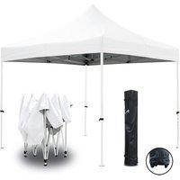 Tente pliante blanche 3x3m ECO Tube 25mm en acier Bâche 220g/m² ENDUIT PVC 100% ÉTANCHE Pavillon jardin Tonnelle réception, Sac de transport - GREADEN