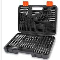 Drill Bit Set 150pc and Carry Case, Includes Screwdriver Bits, HSS Drill Bits, Wood Drilling Bits, Flat Wood Drill Bits, Nut Driver Bits, Allen Keys and