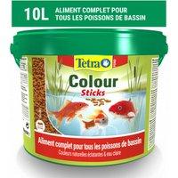 Alimentation Tetra Pond Colour Sticks pour poissons de bassin Contenance 10 litres