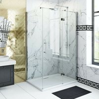 . Beaumont traditional 8mm hinged shower enclosure 1200 x 800 - The Bath Co