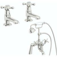 . Camberley basin pillar and bath shower mixer tap pack - The Bath Co