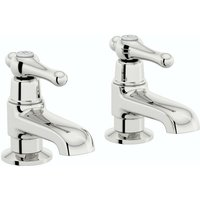 . Camberley lever basin pillar taps - The Bath Co