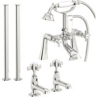 Dulwich basin tap and bath shower mixer fixed standpipe tap pack - Orchard