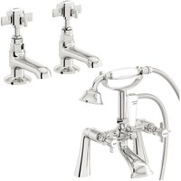 . Dulwich basin tap and bath shower mixer tap pack - The Bath Co
