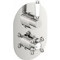 Dulwich twin thermostatic shower valve with diverter - Orchard