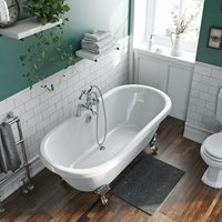 . Traditional Double ended roll top bath 1750 x 800 - The Bath Co