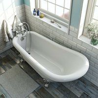 . Traditional single ended slipper bath 1700 x 750 - The Bath Co