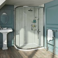 Winchester 6mm traditional offset quadrant shower enclosure 1200 x 800 - Orchard