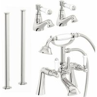 Winchester basin tap and bath shower mixer fixed standpipe pack - Orchard