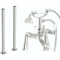 Winchester bath shower mixer and fixed standpipe pack - Orchard