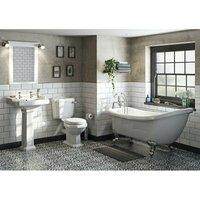 Orchard Winchester bathroom suite with roll top bath and taps