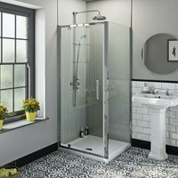 Winchester traditional 6mm rectangular pivot shower enclosure 1000 x 700 - Orchard