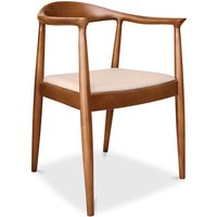 Privatefloor - Fridolf scandinavian style chair - Premium Leather Ivory