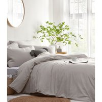 The Linen Yard Stonehouse Duvet Cover Set (Single) (Grey)