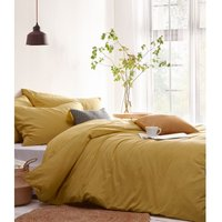 Stonehouse Duvet Cover Set (Single) (Ochre Yellow) - The Linen Yard