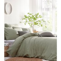 The Linen Yard Stonehouse Duvet Cover Set (Super King) (Sage Green)