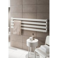 TRC - The Radiator Company BDO Step Aluminium Horizontal Designer Heated Towel Rail 430mm x 1800mm WhitePearl