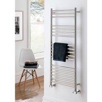 The Radiator Company Iris Polished Stainless Steel Vertical Designer Heated Towel Rail 1200mm x 600mm - TRC