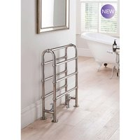 TRC - The Radiator Company Lingfield Steel Floor Standing Designer Heated Towel Rail 850mm x 600mm Chrome