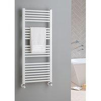 The Radiator Company Lupin Steel Vertical Designer Heated Towel Rail 1210mm x 400 White