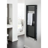 TRC - The Radiator Company Nova Steel Vertical Designer Heated Towel Rail 807mm x 500 White