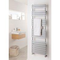 The Radiator Company Piano Steel Vertical Designer Heated Towel Rail 1520mm x 606mm White