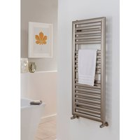 TRC - The Radiator Company Pulsar Steel Vertical Designer Heated Towel Rail 1884mm x 600mm White