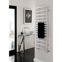 TRC - The Radiator Company Tole Aluminium Vertical Designer Heated Towel Rail 1310mm x 581mm Chrome
