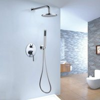 Shower mixer thermostatic system with rain and chrome hand 200 mm - LOOKSHOP